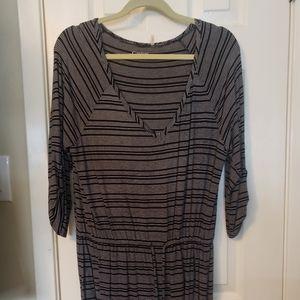 Caslon drop waist knit mini dress